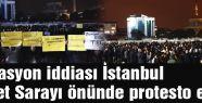 Operasyon iddiası Adliye önünde protesto edildi