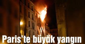Paris'te son yılların en büyük yangını