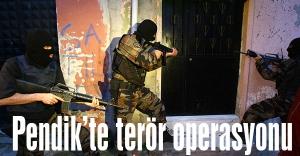 Pendik'te eş zamanlı terör operasyonu!