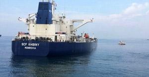 Petrol yüklü Liberya gemisi karaya oturdu