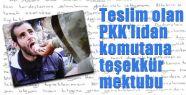 PKK'lıdan Komutana Mektubu