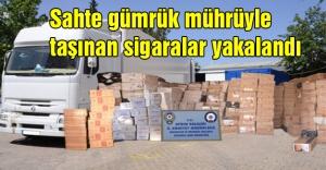 Sahte gümrük mührüyle taşınan sigaralar yakalandı