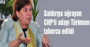 Saldırıya uğrayan CHP'li adayı Türkmen taburcu edildi