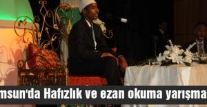 Samsun'da Hafızlık ve ezan okuma yarışması