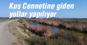 Samsun'da Kuş Cennetine giden yollar yapılıyor