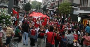 Samsun'da Teröre tepki yürüyüşü duygulandırdı
