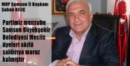 Samsun'da Mhp'lilere Sözlü Saldırı
