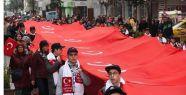 Samsun'da Sarıkamış İçin 100 metrelik dev bayrak