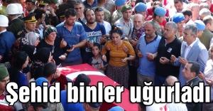 Şehit Akkabak'ı Binler Uğurladı