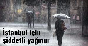 Şiddetli yağmur uyarısı!
