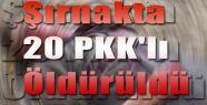 Şırnakta Çatışmada 20 PKK'lı Öldürüldü