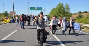 Suriyeliler TEM'den ayrıldı