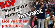 Taksim'de BDP'liler Lice Olayını Protesto Etti