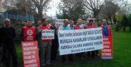 Taşeron işçiler kadro talepleri için eylem yaptı