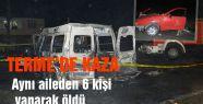 Terme'de Kaza; aynı aileden 6 kişi yanarak öldü