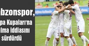 Trabzonspor, Avrupa Kupaları'na katılma iddiasını sürdürdü