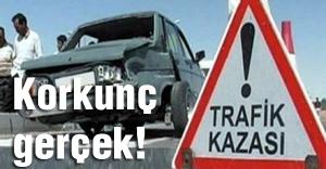 Trafik kazalarında korkunç rakam