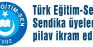 Türk Eğitim-Sen Pilav İkram Etti