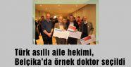 Türk hekim Belçika'da örnek doktor seçildi