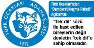 """Türk Ocakları'ndan """"Demokratikleşme Paketi"""""""