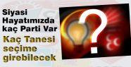 Türk Siyasi Hayatında Kaç Parti Var: Biliyormusunuz?..
