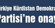 Türkiye Kürdistan Demokrat Partisi'ne onay