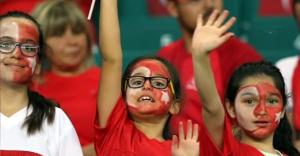 Türkiye - Letonya maçından çok özel görüntüler