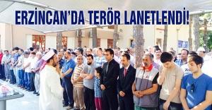 Ülkü Ocakları Erzincan'da terörü lanetledi