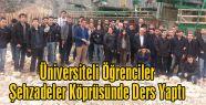 Üniversiteli Öğrenciler Şehzadeler Köprüsünde Ders Yaptı