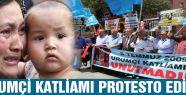 Urumçi katliamının 5.Yıl dönümünde protesto edildi