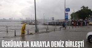 Üsküdar'da kara-deniz bir oldu