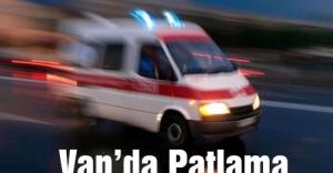 Van'da askeri aracın geçişi sırasında patlama