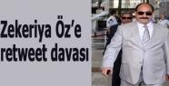 Zekeriya Öz'e retweet davası