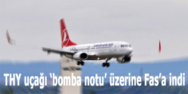 THY uçağı 'bomba notu' üzerine Fas'a indi