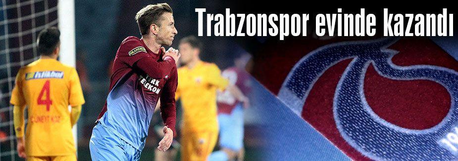 Trabzonspor evinde kazandı