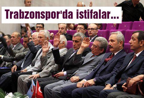 Trabzonspor'da 10 istifa...