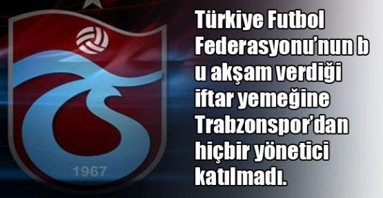 Trabzonspor'dan TFF'ye rest