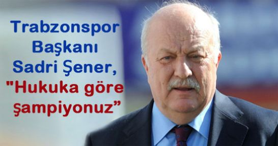 Trabzonspor'un şampiyonluk ilanı