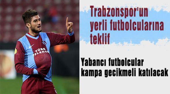 Trabzonspor'un yerli futbolcularına teklif