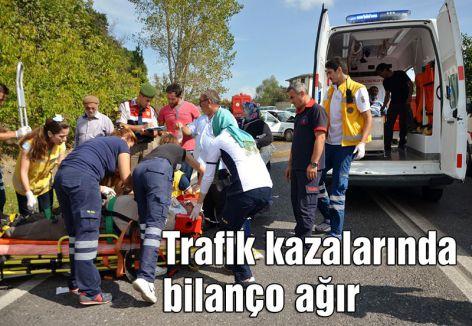 Trafik kazalarında bilanço ağır
