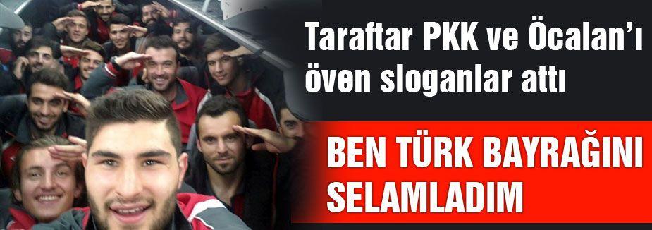 """""""Tribünü değil, Türk bayrağını selamladım"""""""