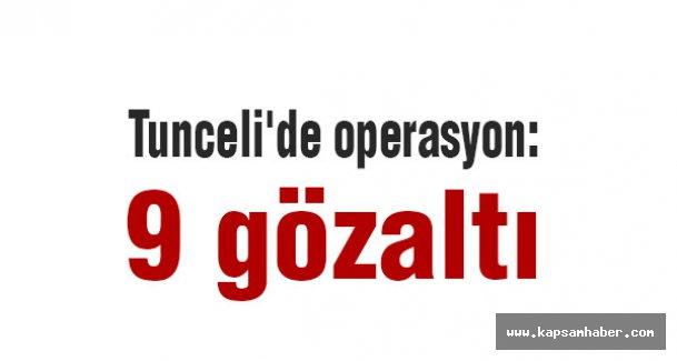 Tunceli'de operasyon: 9 gözaltı