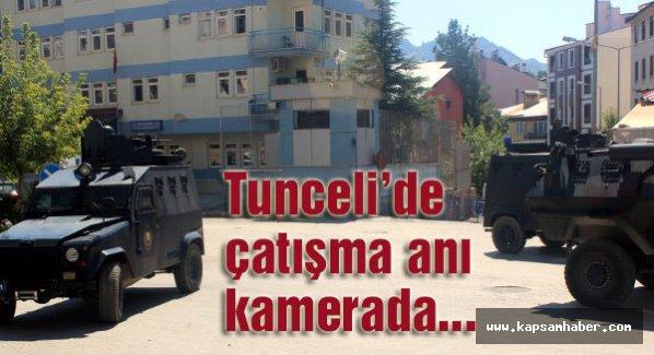 Tunceli'deki çatışma anı kamerada