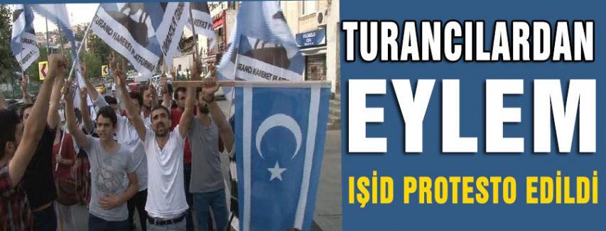 Turancılar AKP binasının önünde eylem yaptı