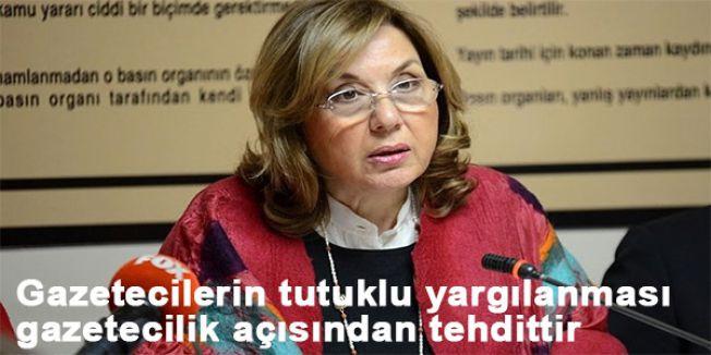 Türenç: Gazetecilerin tutuklu yargılanması gazetecilik açısından tehdittir