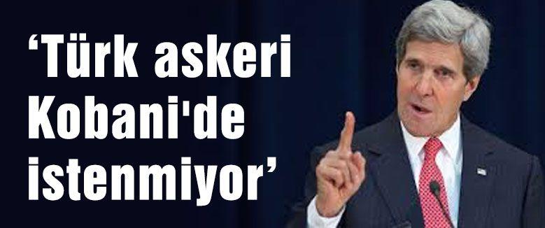 Türk askeri Kobani'de istenmiyor...