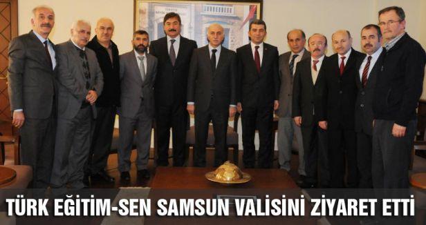 Türk Eğitim Sen'den Samsun Valisi Şahin'e ziyaret