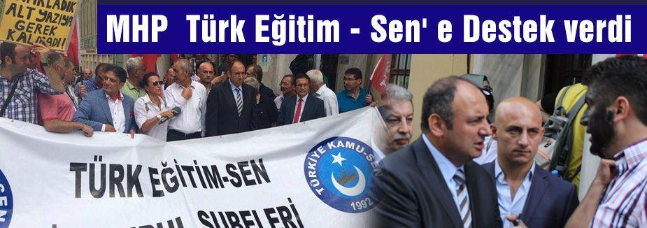 Türk Eğitim-Sen'e MHP'den destek