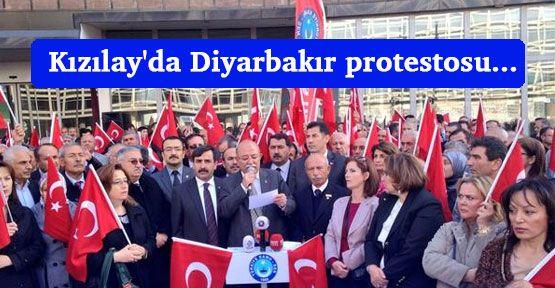 Kızılay'da Diyarbakır protestosu...