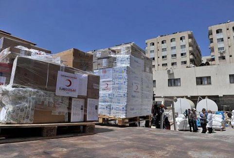 Türk Kızılayı'ndan Gazze'ye yardım...